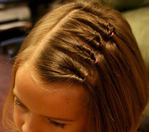 Причёски в школу: кручёные хвостики