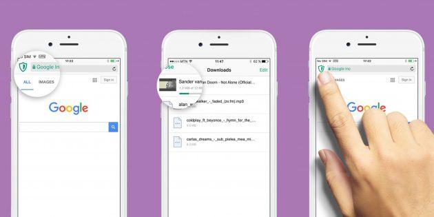 Aloha Browser для iOS — новый безопасный браузер с безлимитным VPN