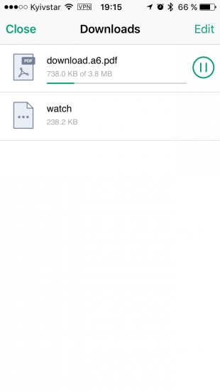 Aloha Browser: менеджер загрузок