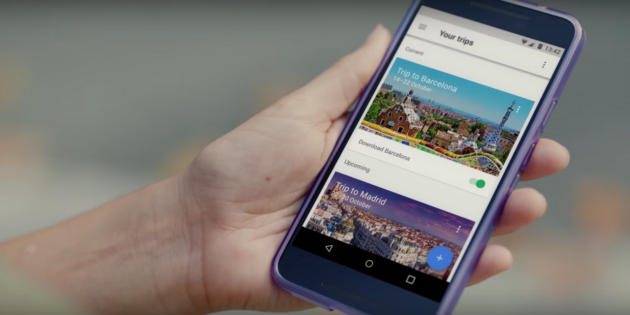 Google Trips cover