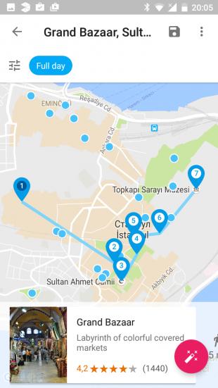 Google Trips maps