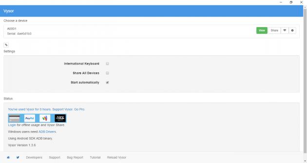 Vysor: управление Android-смартфоном через настольный Chrome