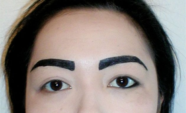 ошибки в макияже: брови