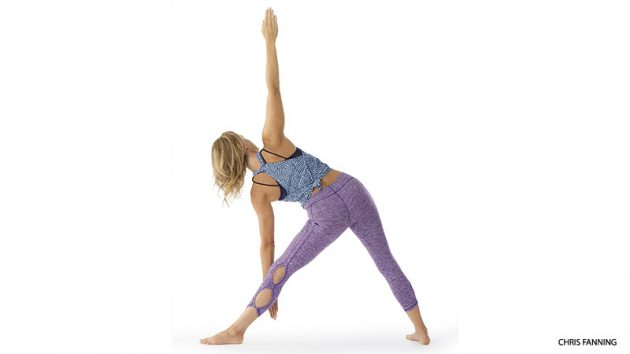 асаны йоги: Уттхита Триконасана