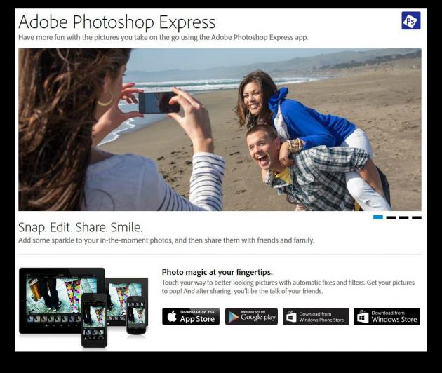 начинающий фрилансер Photoshop Express