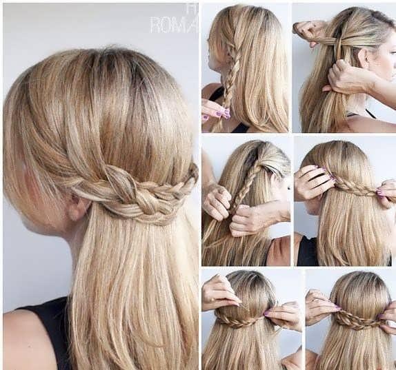 Причёски в школу за 5 минут: подхват из кос