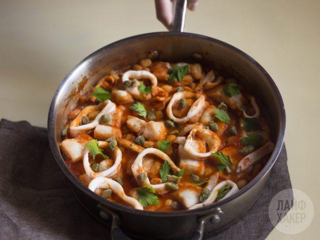 рыбное рагу: готовое блюдо