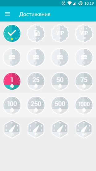Drivvo для Android: достижения
