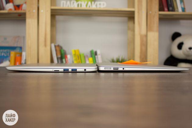 Haier LightBook: толщина