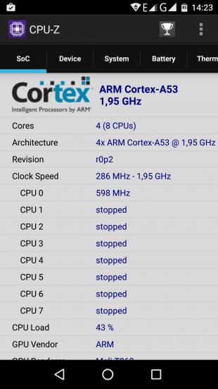 Vernee Mars CPU-Z 1