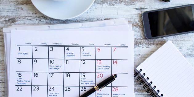 личный календарь