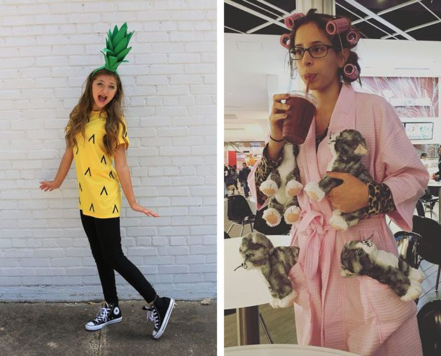 костюм на хеллоуин: ананас и женщина