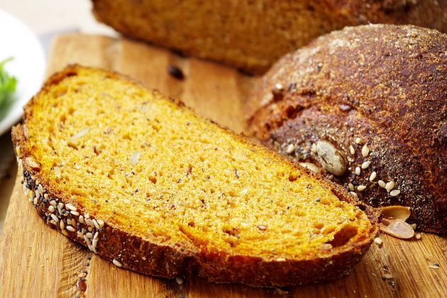 Что приготовить из тыквы: тыквенный хлеб в духовке