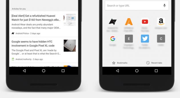 рекомендации в Chrome: статьи