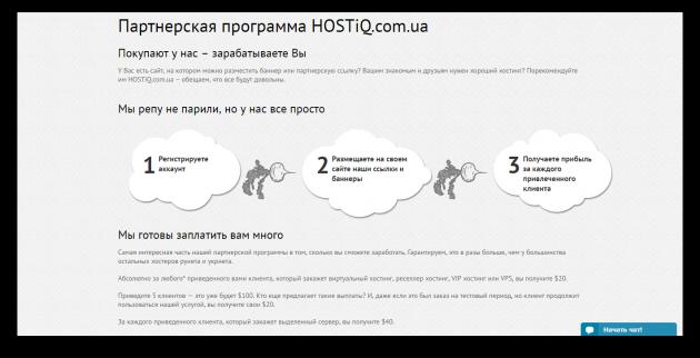 Партнёрская программа HOSTiQ