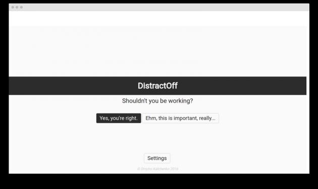 DistractOff note