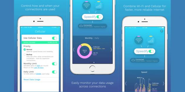 Приложение Speedify объединяет Wi-Fi и сотовую сеть для ускорения интернета на смартфоне