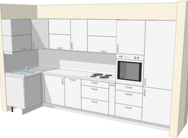 Как выбрать кухонный гарнитур: L-образная кухня