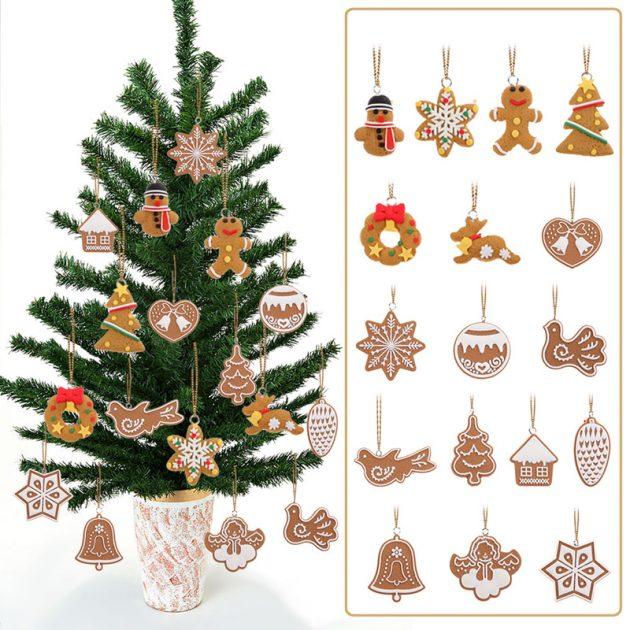 новогодние товары: украшения в виде имбирных печений
