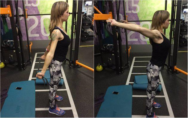 Упражнения с резиновой лентой: Растяжка плеч