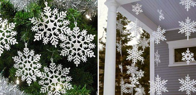 новогодние товары: снежинки