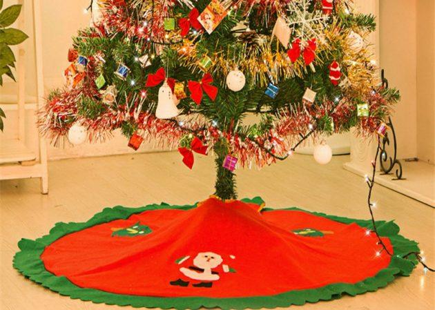 новогодние товары: коврик под ёлку