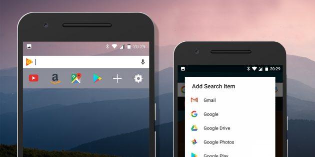 Custom Search Bar Widget — замена поисковой строки Google для Android