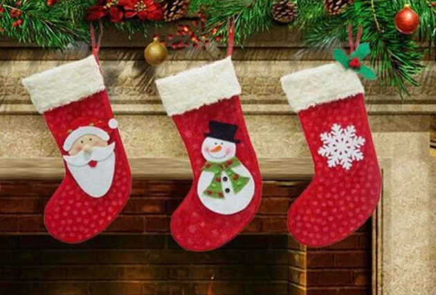 новогодние товары: рождественские носки