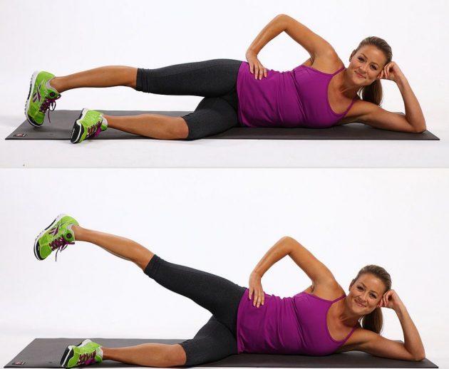 Как убрать бока с помощью упражнений: подъёмы ног