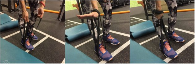 Упражнения с резиновой лентой: Растяжка трапециевидных мышц