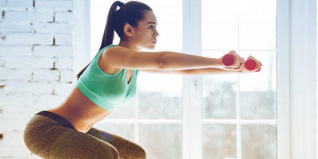 10 отличных упражнений с гантелями для подтянутой попы
