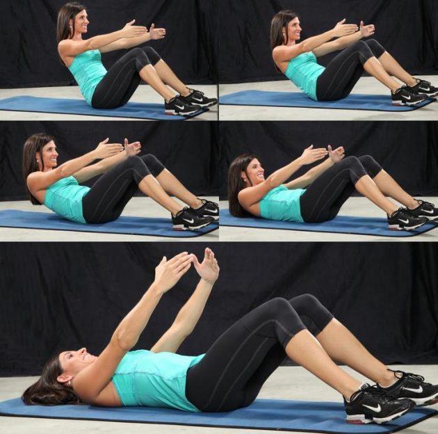 Как убрать живот с помощью упражнений: подъёмы корпуса