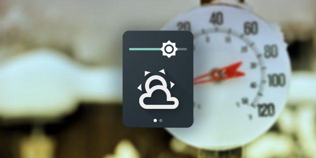 Weather Quick Settings Tile —плитка с погодой для новой версии Android