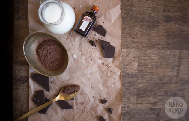 Горячий шоколад с алкоголем: ингредиенты
