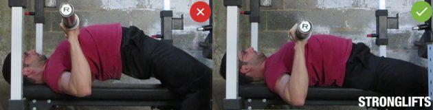 Жим от груди: положение таза