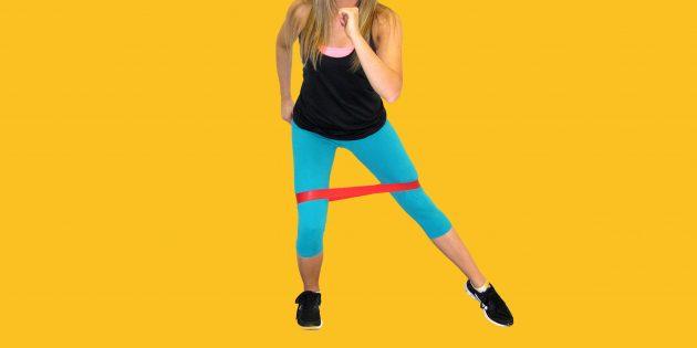 10 упражнений для растяжки с резиновой лентой-эспандером