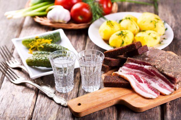 чем закусывать: водка