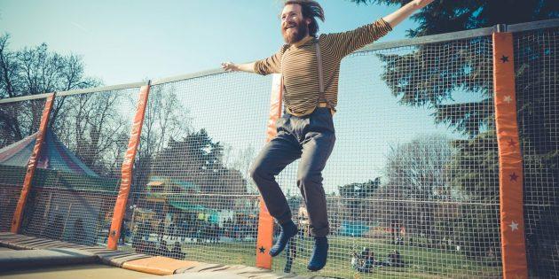 Что подарить парню на день рождения: Прыжки на батуте