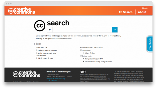 Creative Commons search