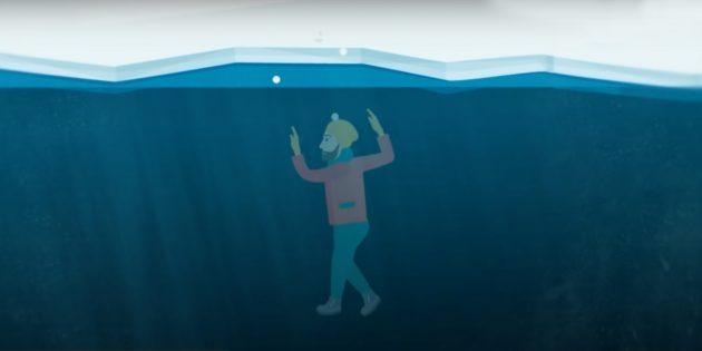 Что делать, если кто-то провалился под лёд
