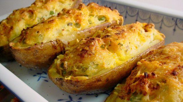 Блюда из фарша: Фаршированный картофель
