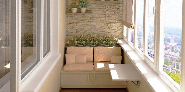 маленький балкон, дизайн балкона