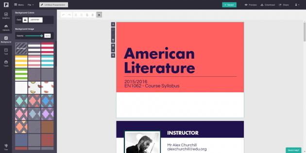 Графические онлайн-конструкторы: Piktochart