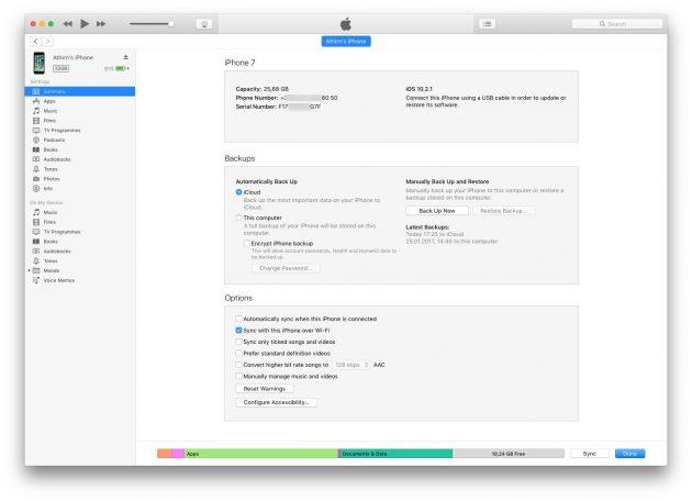 Как отличить iPhone от подделки: iTunes