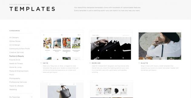 Онлайн-конструкторы сайтов: Squarespace