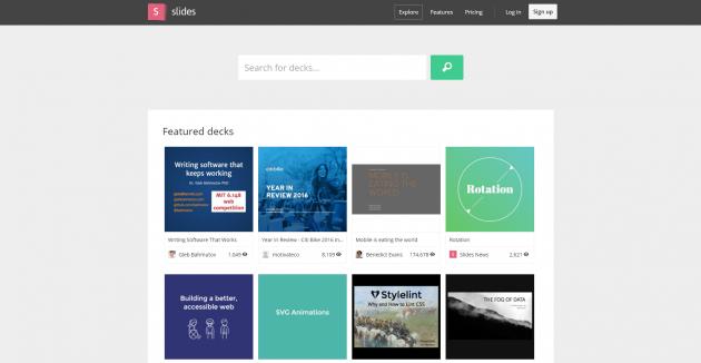 Онлайн-конструкторы презентаций: Slides