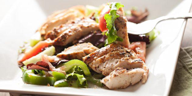 5 необычных и очень вкусных салатов с курицей