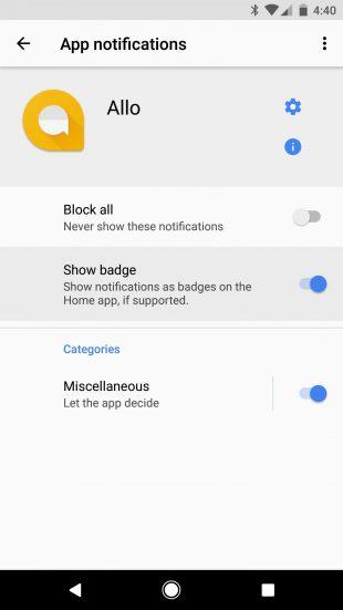 Android O: непрочитанные уведомления