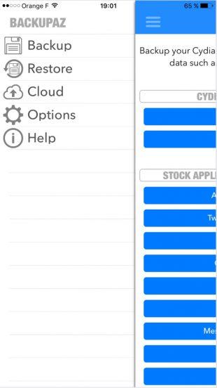 BackupAZ для iOS