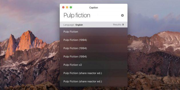 Caption для Mac найдёт субтитры к сериалам и фильмам в один клик